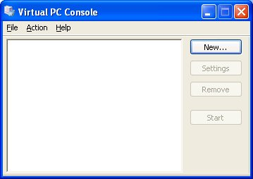 "Select ""New..."" to create a new Virtual Machine"
